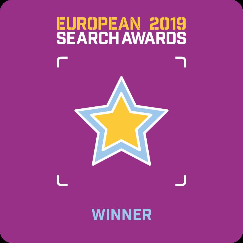 European Search Awards 2019 Badge