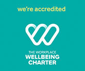 blueclaw is a accredited by the workplace wellbeing charter - logo