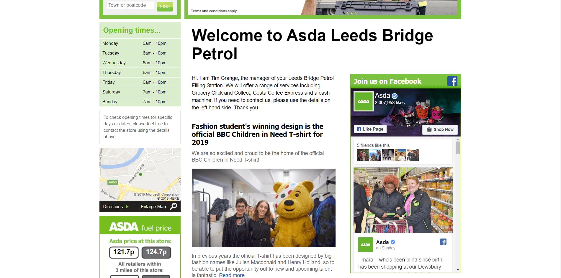 Asda Leeds Petrol Filling Station